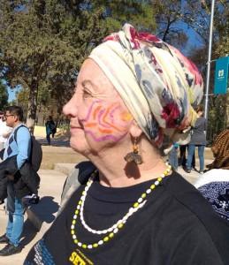 Cecília em Mendoza cara pintada foto Poliana cortada
